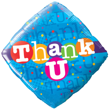 "18"" Thank U Colourful Dots Foil"