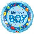 """18"""" Birthday Boy Blue Foil"""