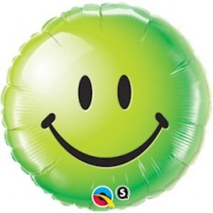 "18"" Smiley Face Green Foil"