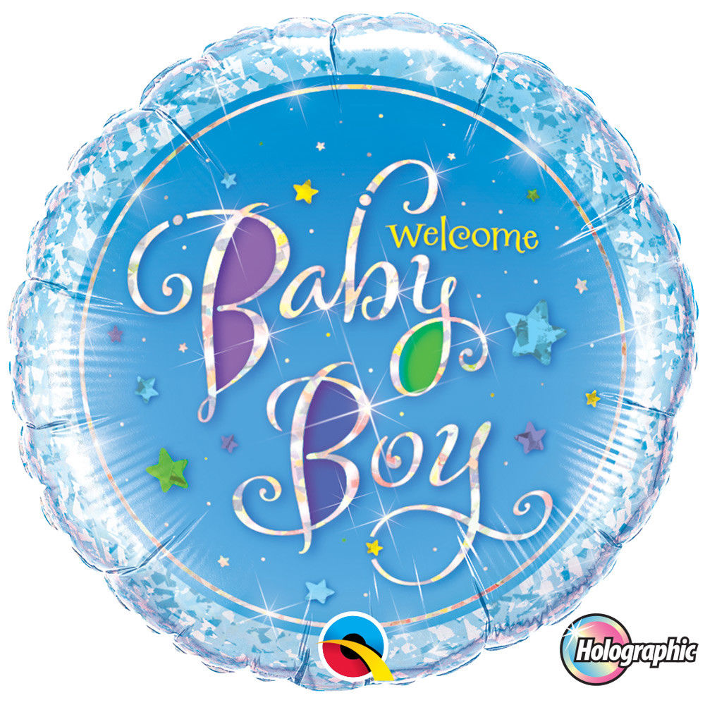 "18"" Welcome Baby Boy Stars Foil"