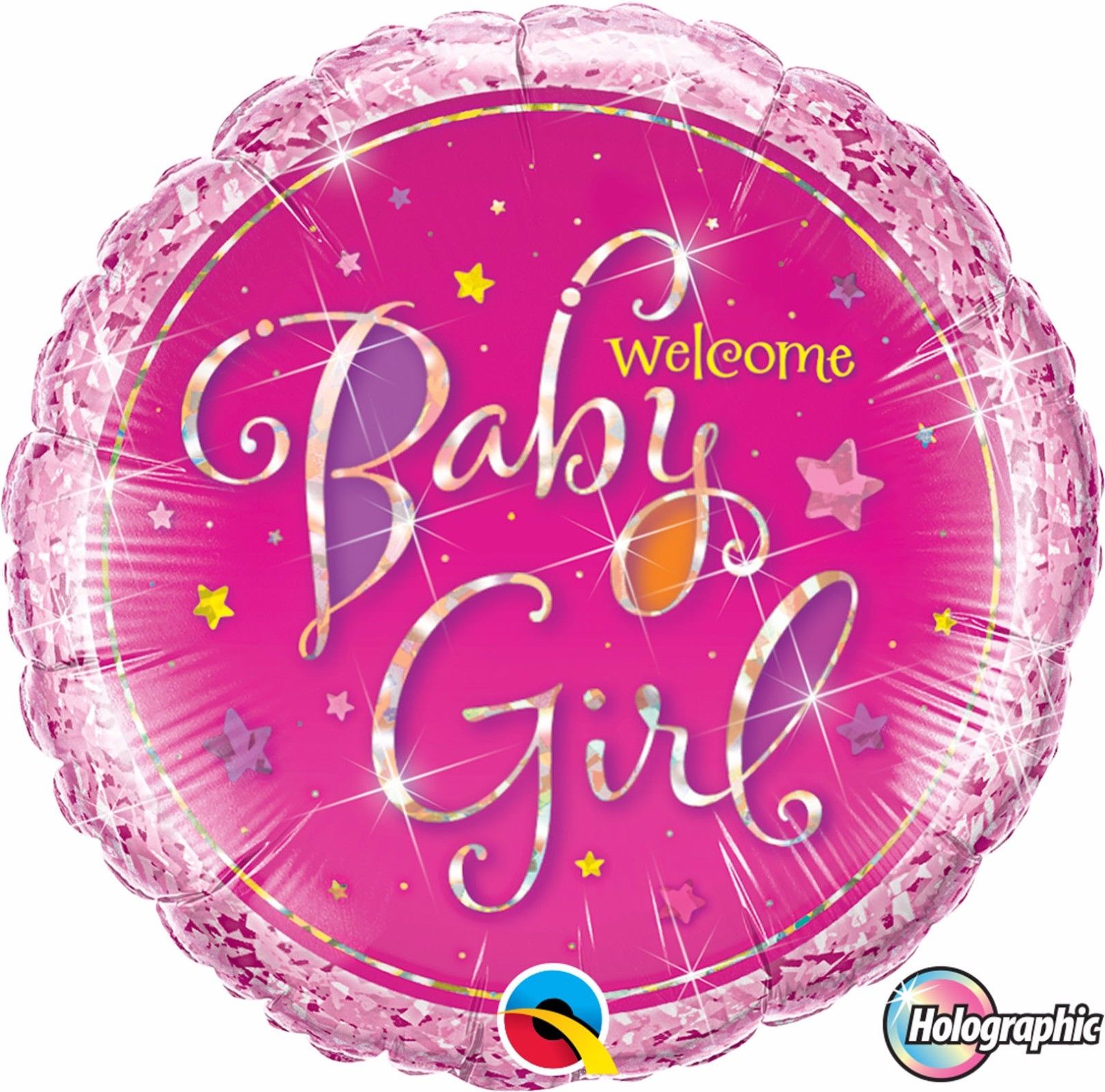 "18"" Welcome Baby Girl Stars Foil"