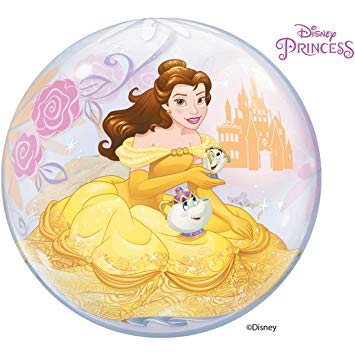 "22"" Disney Princess Belle Single Bubble"