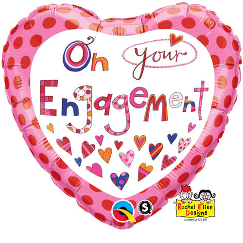 "18"" Rachel Ellen On Your Engagement Foil"