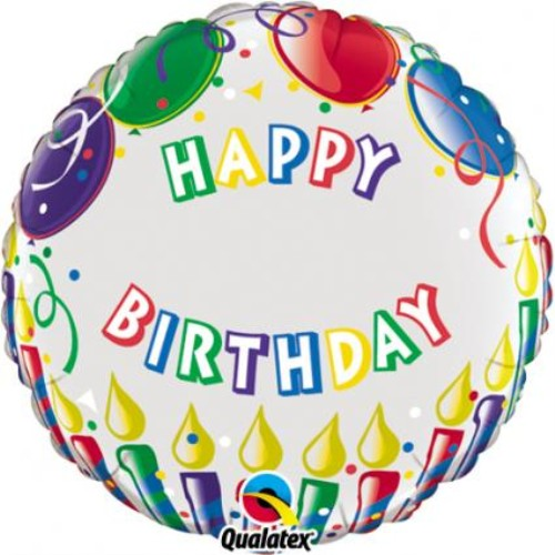 "18"" Just Write Happy Birthday Candles Foil"