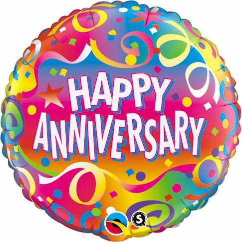 """18"""" Anniversary Confetti Foil"""