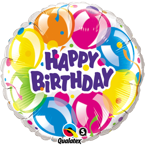 "18"" Happy Birthday Sparkling Balloons Foil"