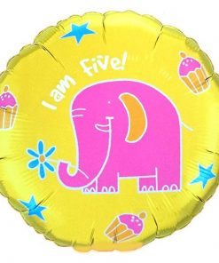 "18"" Elephant 'I am five' Foil"
