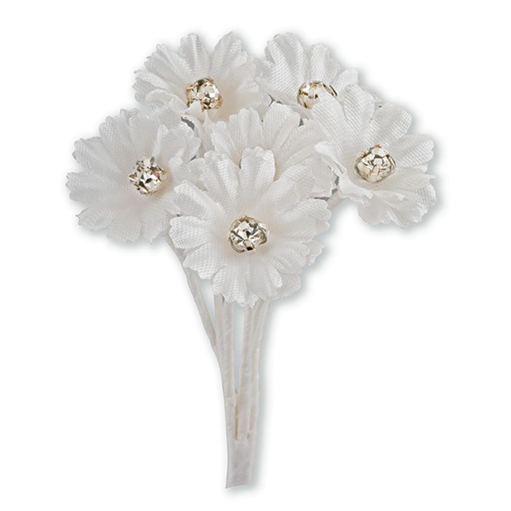 Ivory Silk Daisy with Diamanté