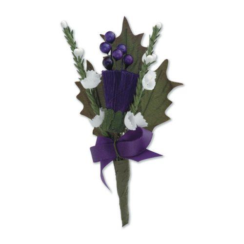 Thistle and Heather Spray Purple