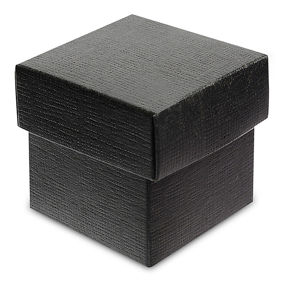 Black Silk Square Box with Lid