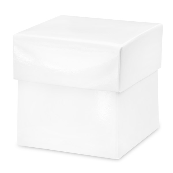Glossy White Square Box with Lid