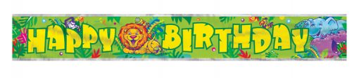 Smiling Safari Birthday Banner