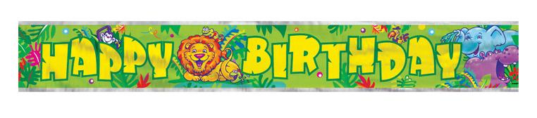 Smiling Safari Birthday Banner