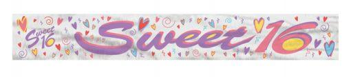 Happy Sweet 16th Birthday Banner