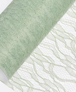 15cm Sage Green Lace Net