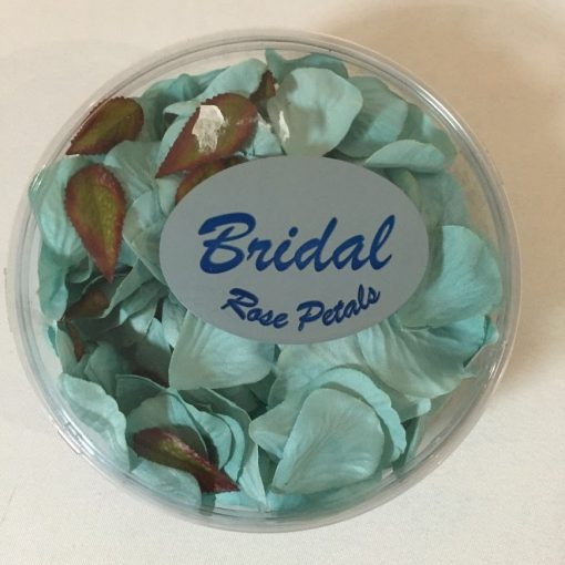 Artificial Turquoise Sage Rose Petal Confetti