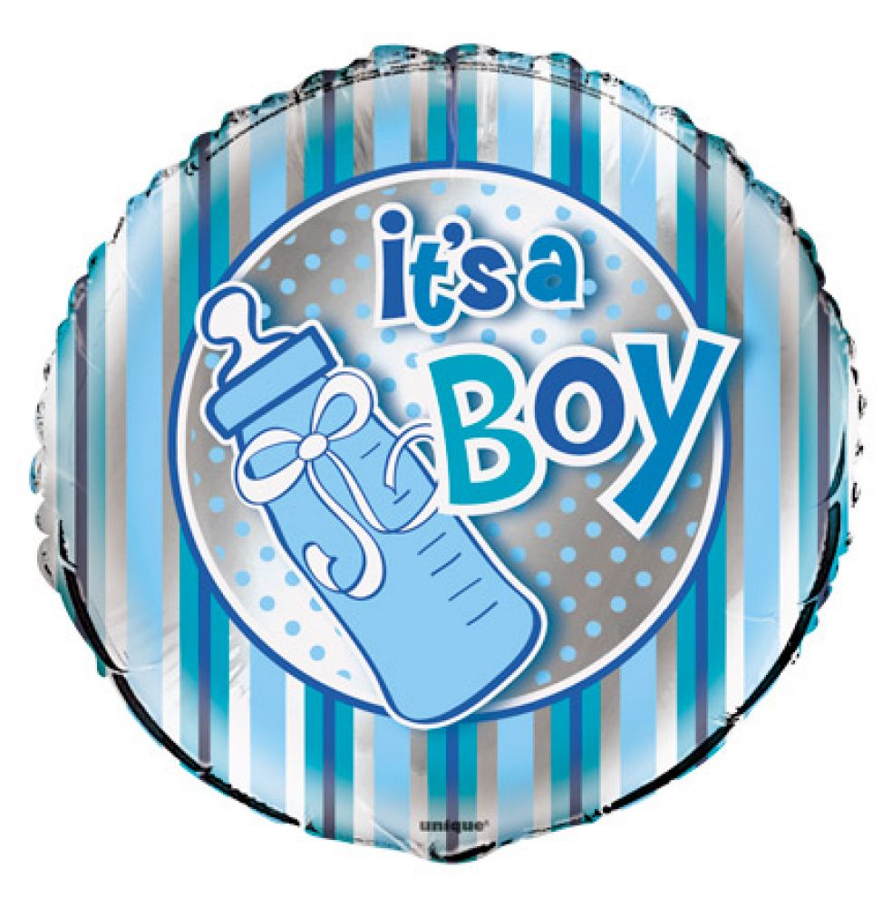 "18"" It's A Boy Bottle Foil"