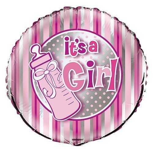"18"" It's A Girl Bottle Foil"