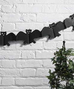 Happy Halloween Bat Garland