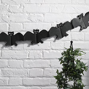 Happy Halloween Bat Garland