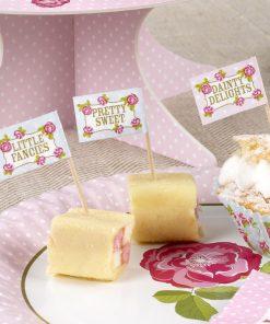 Vintage Rose Cupcake Picks