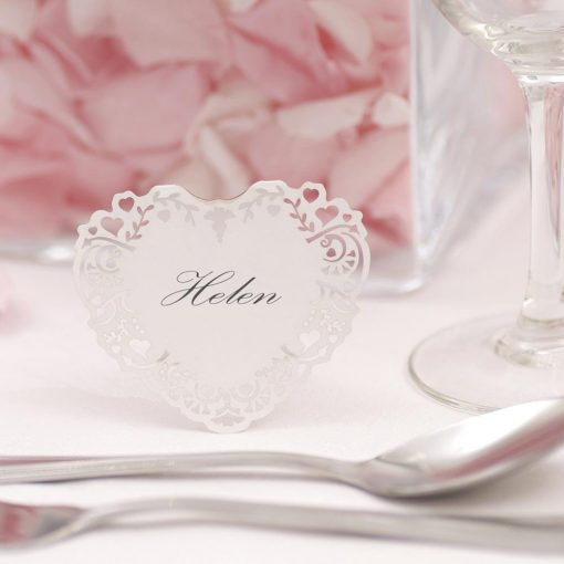 Free Standing Place Cards White
