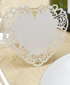 Free Standing Place Cards Ivory