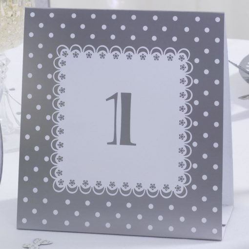 Table Number Tent Cards White