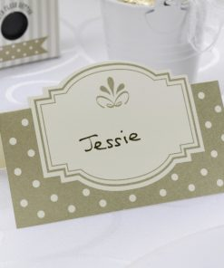 Chic Boutique Place Cards - Ivory & Gold
