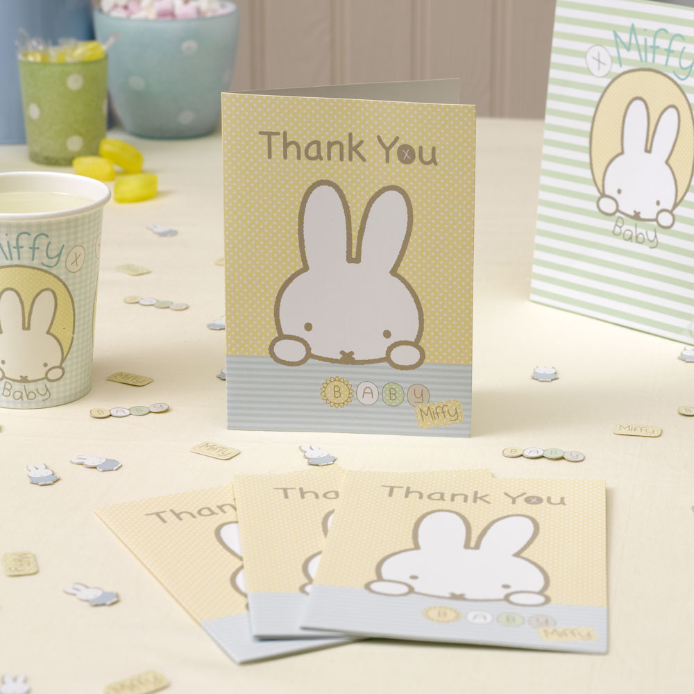 Baby Miffy Thank You Cards