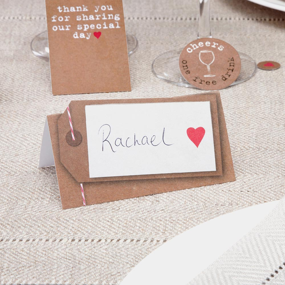 Just My Type Place Cards