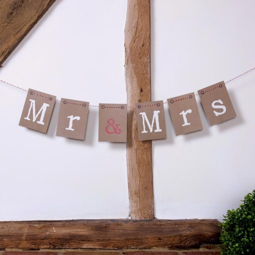 Just My Type Mr and Mrs Chair Bunting