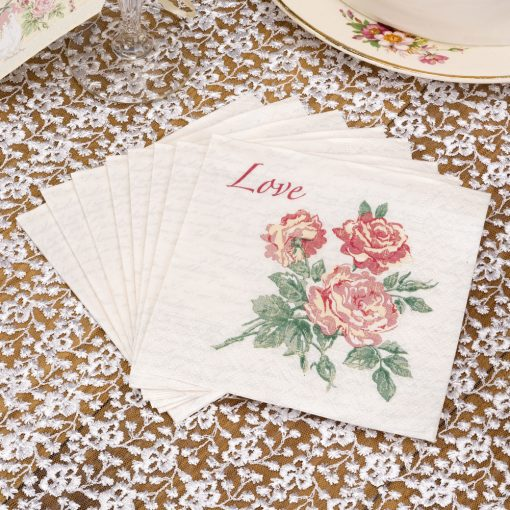 With Love Cocktail Napkins
