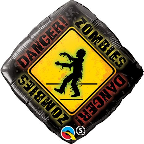 "18"" Zombies Crossing Foil"