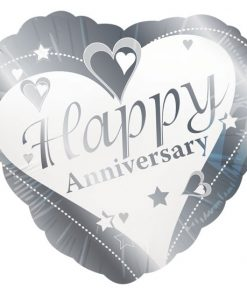 "18"" Happy Anniversary Heart Foil"