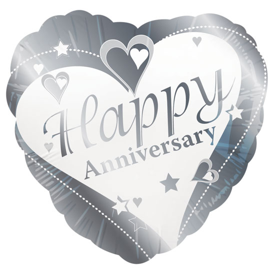 "18"" Happy Anniversary Heart Foil"