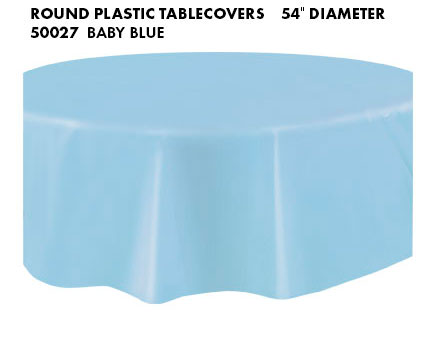 Round Tablecloth - Baby Blue