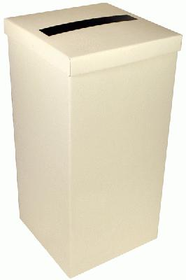 Wedding Post Box with Lid - Ivory