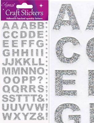 Eleganza Craft Stickers Bold Alphabet Set Silver