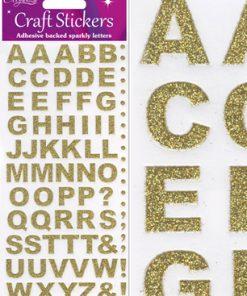 Eleganza Craft Stickers Bold Alphabet Set Gold