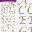 Eleganza Craft Stickers Stylised Alphabet Set Gold