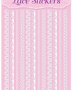 Eleganza Lace Stickers Edging Selection White