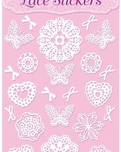 Eleganza Lace Stickers Pattern Selection B