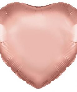 "18"" Rose Gold Heart Packaged"