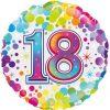 18th Colourful Confetti Birthday