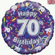"18"" Happy 70th Birthday Streamers Holographic Foil"