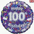 18″ Happy 100th Birthday Streamers Holographic Foil