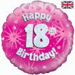 "18"" Happy 18th Birthday Pink Foil"