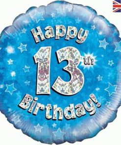 "18"" Happy 13th Birthday Blue Foil"