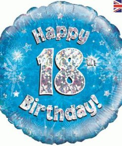 "18"" Happy 18th Birthday Blue Foil"